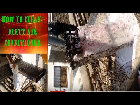 How to Clean Dirty Air Conditioner AC Coil Cleaner Experts in Dubai maintenance work