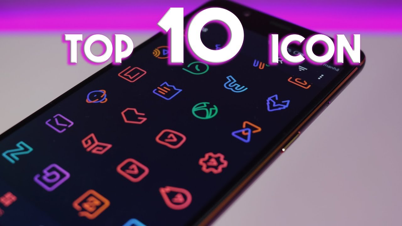 TOP 10 ANDROID ICON PACK (FREE / PRO + BÔNUS DRAWER) PLAY STORE