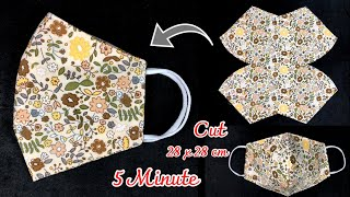 Easy Idea Face mask making DIY Face mask sewing Tutorial