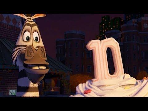 DreamWorks Мадагаскар на русском | Песня с днем рождения - Марти хочет сбежать | Клип фильм