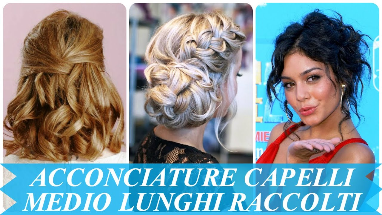 Préférence Acconciature capelli medio lunghi raccolti - YouTube IT84