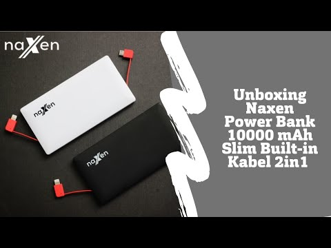 Naxen Powerbank 10000 mAh Super Slim Dual Cable