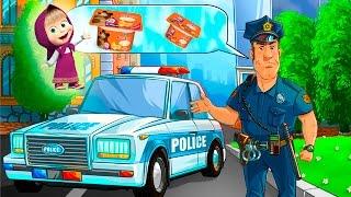 Машинки мультики где полицейская машинка и скорая помощь учат Профессии для детей.