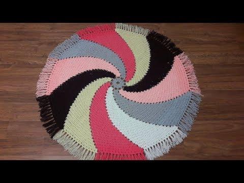 Вязание крючком коврика на табурет для начинающих видео уроки