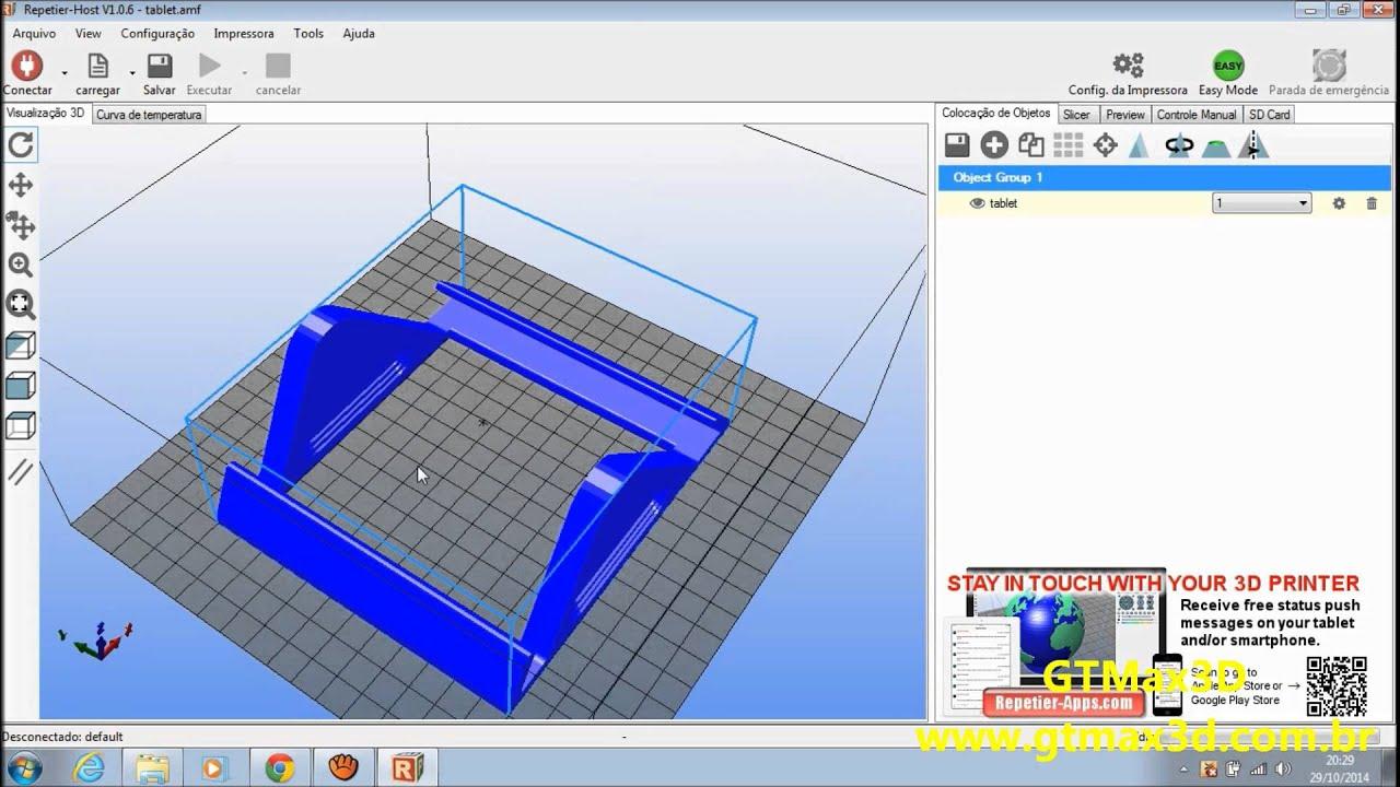 V deo 2 instalando e conhecendo o software de impr youtube - Programas para 3d ...