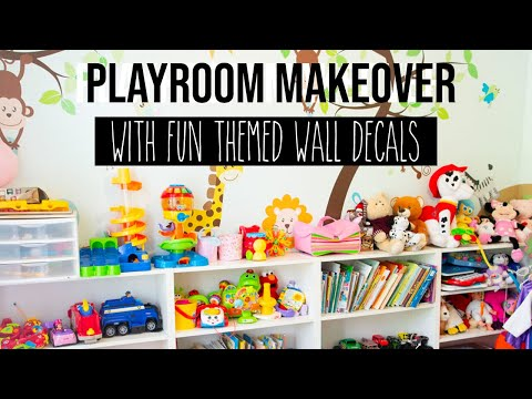 Kids Playroom Tour with Organization Ideas (Renovation from Office to Playroom)