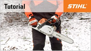 Video Tutorial On Chain Saws 6 - Start The Stihl Ms 241 C-em With M-tronic