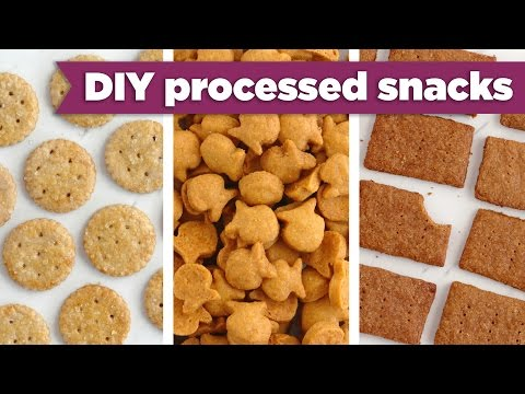 Healthy Processed Snacks – DIY Goldfish, Graham Crackers, Ritz! - Mind Over Munch