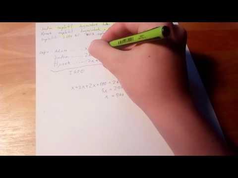 Řešení slovních úloh