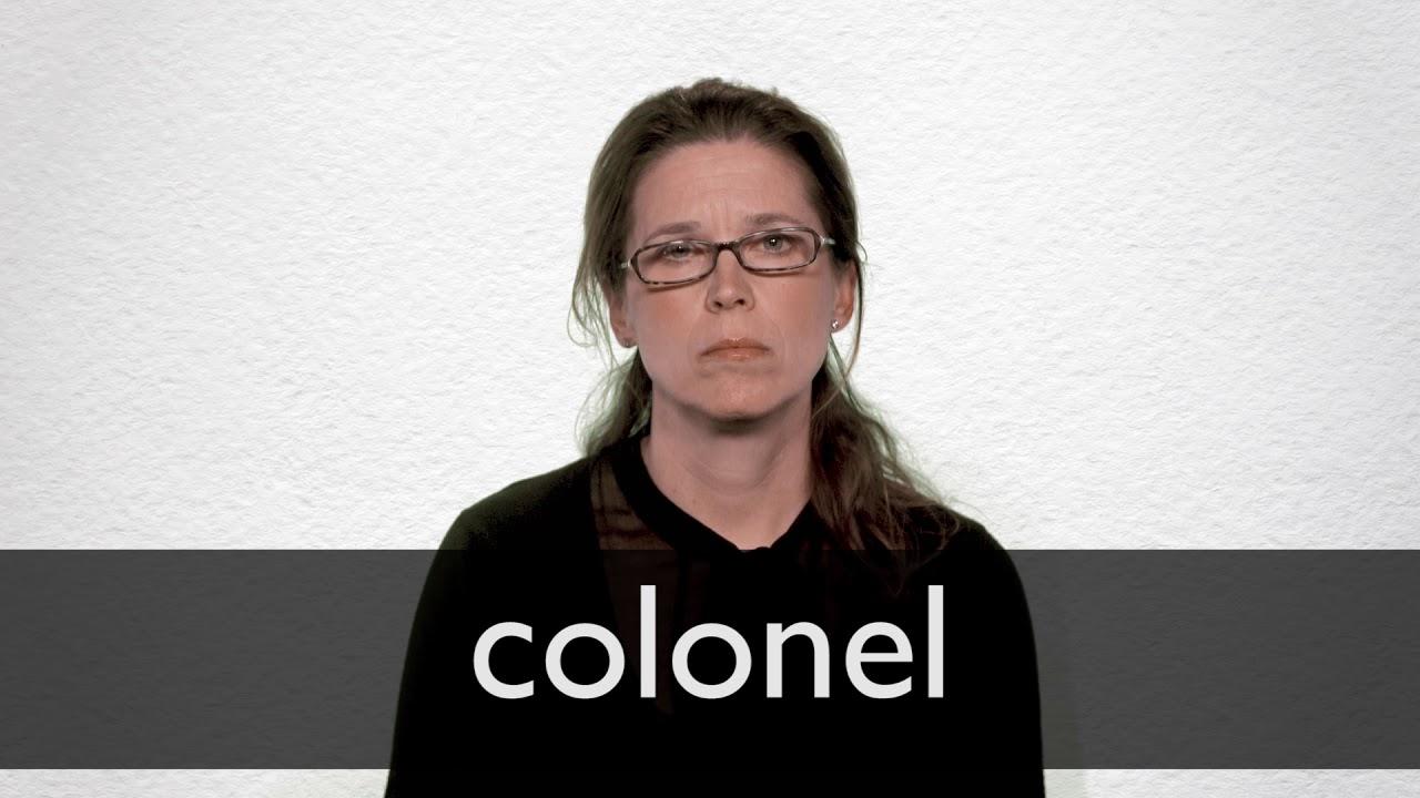 Colonel Definition und Bedeutung  Collins Wörterbuch