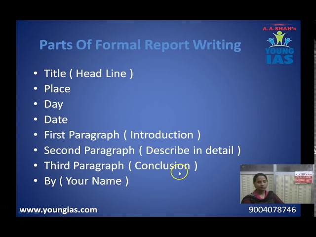 10th Std Board - English Grammar - Report Writing