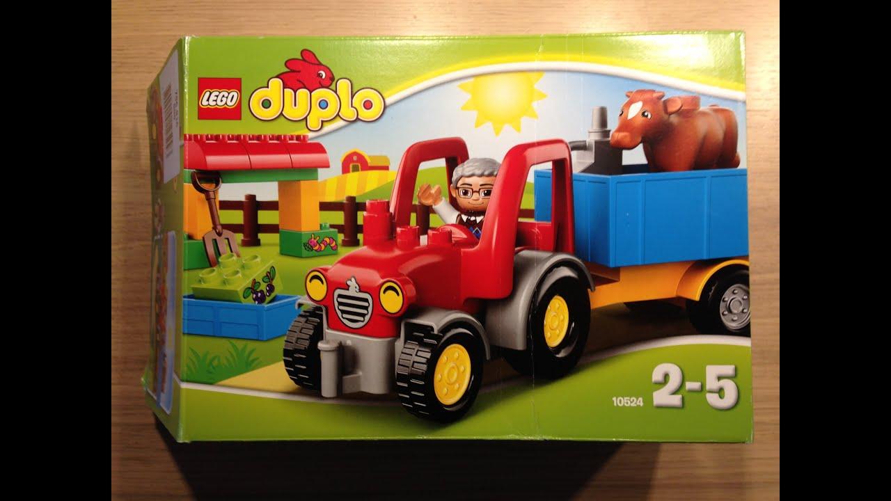 lego duplo traktor mit anh nger und tieren 10524 youtube. Black Bedroom Furniture Sets. Home Design Ideas