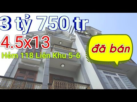 """Nhà Đẹp 🎀""""Gía NGON"""" Bán nhà liên khu 5-6 Quận Bình Tân giá dưới 4 tỷ sổ hồng riêng Bình Hưng Hòa B"""