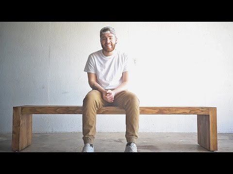 Build This Beautiful Modern Bench Using Nothing But 2 x 4s