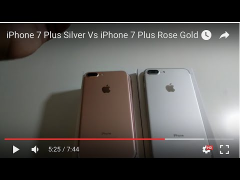 iphone 7 plus silver vs iphone 7 plus rose gold youtube. Black Bedroom Furniture Sets. Home Design Ideas