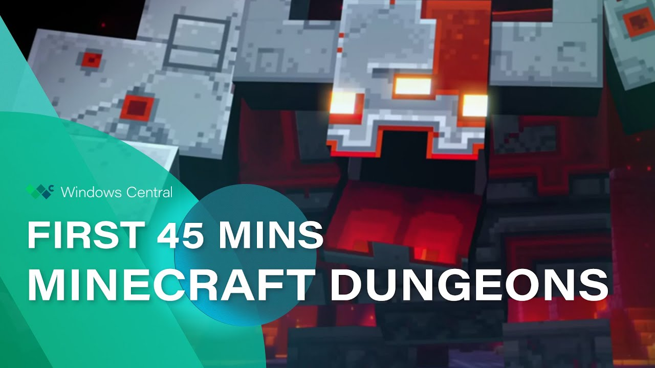 Here's the first 45 minutes of Minecraft Dungeons gameplay