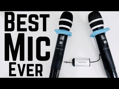 hotec 25 channel uhf dual wireless microphone review unbox youtube. Black Bedroom Furniture Sets. Home Design Ideas