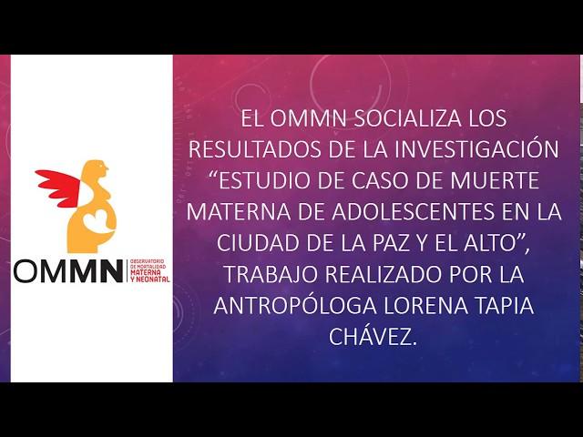 """Entrevista """"Estudio de Caso de Muerte Materna de Adolescentes en la ciudad de La Paz y El Alto"""""""