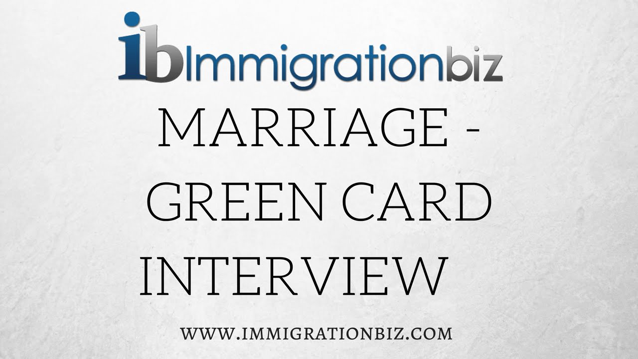 How to apply for Green Card: Marriage Interview Questions - YouTube