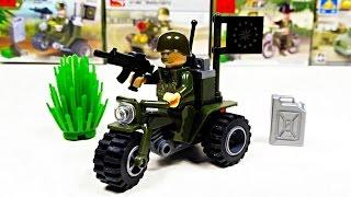 Военные игрушки для детей. Военный мотоцикл игрушка. Лего военный. Обзор игрушек