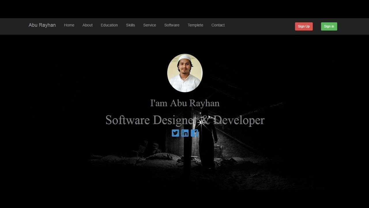 Complete Personal Website    HTML Template with Back End Management    Bootstrap Portfolio Website