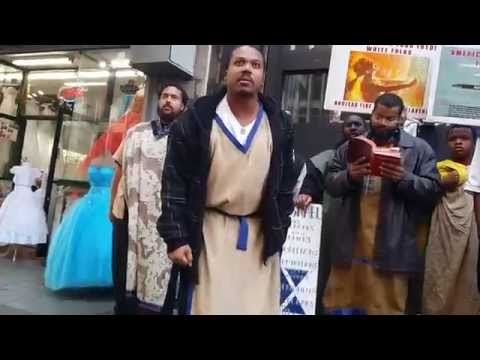 "TedTheAtheist vs Racist ""Black Jesus"" idiots on Broadway blvd, downtown Los Angeles."