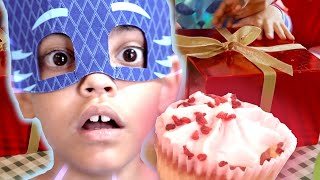 PJ Masks in Real Life 🍰 Bad Birthday with Cake! 🍰 PJ Masks