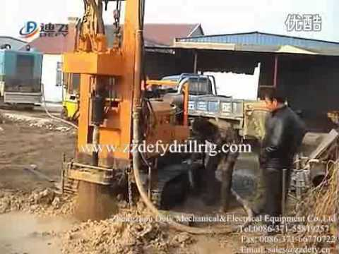 DFQ series air operated drill rig operation