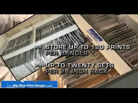 The Big Blueprint Hanger   Blueprint Storage Solutions
