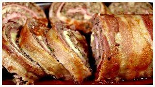 Incrível Rocambole com bacon crocante – A melhor receita do Mundo