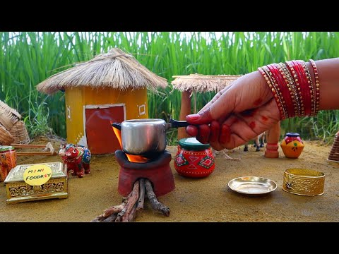 Miniature Rajasthani Thali   Rajasthani Thali Recipe   Miniature Cooking #48   Mini Foodkey