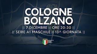 Serie A1M [13^]: Cologne - Bolzano 25-38