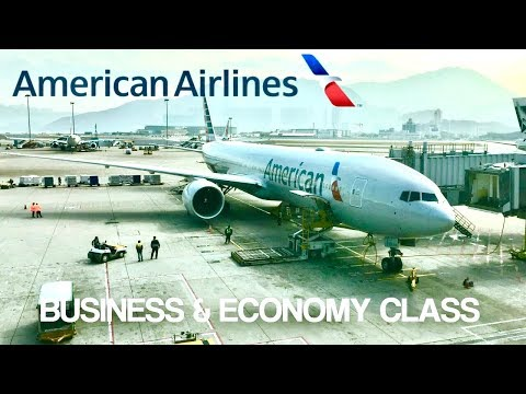 American Airlines Business/Economy Class Dallas To Hong Kong Boeing 777-300ER Review