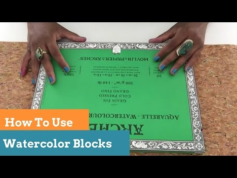 How To Use A Watercolor Block