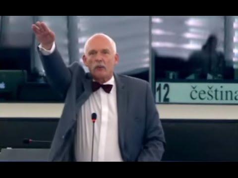 Too far: Polish MEP gives Nazi salute, shouts facist slogan in EU parliament