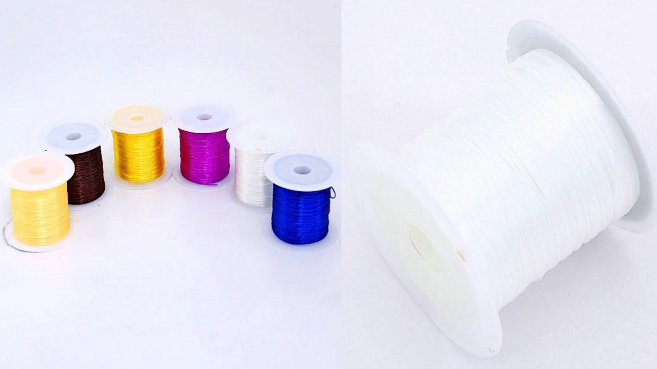 Спандекс (силиконовая нить, нить-резинка, моно-нить). Резиновая нить жилка для бижутерии (плоская) d 1мм, 10 м. 20,00грн. Новое. Купить еще.