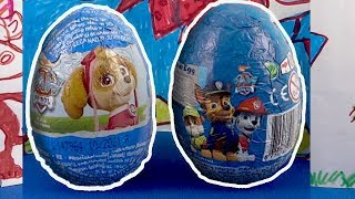 Nickelodeon PAW PATROL Chocolate Surprise Eggs Opening #186