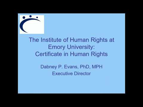 Certificate in Human Rights