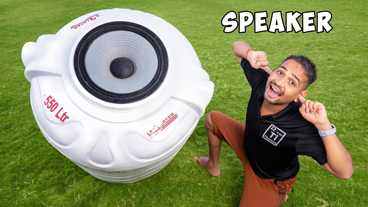 DJ Speaker In Water Tank - तबाही!!!