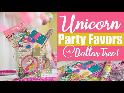 Unicorn Party Favors Bag Ideas from Dollar Tree!! 🦄