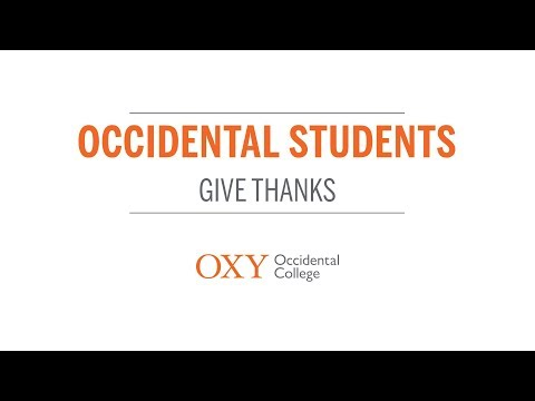 Occidental Students Give Thanks | 2017