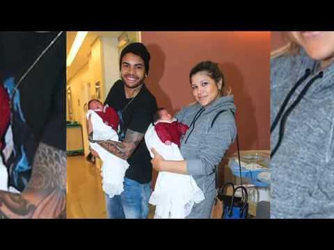 Dentinho E Dani Souza Deixam Maternidade Com Gêmeas - TV Fama 15/04/2014
