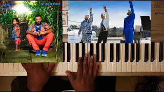 DJ KHALED ft NIPSEY HUSSLE & JOHN LEGEND - HIGHER (PIANO TUTORIAL) G MAJOR ( FATHER OF ASAHD ALBUM)