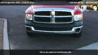 2003 dodge ram 3500 slt quad cab long bed 2wd drw for sale in mesa az 85210