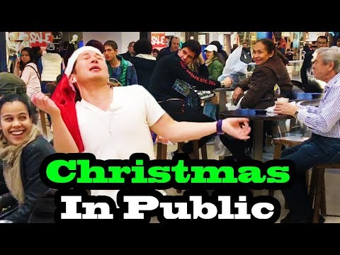 SINGING IN PUBLIC - CHRISTMAS SONGS!!  (JUSTIN BIEBER, ARIANA GRANDE, MARIAH CAREY and MORE!)