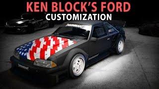 NFS 2015 - Ford Mustang Foxbody KEN BLOCK (Speed Art)(Customization)(PC)