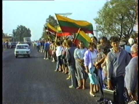 Baltijas Ceļš. Baltic Way. Raw footage (1of 3)