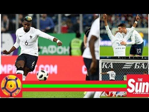 Russia 1-3 France: Paul Pogba nets brilliant free-kick