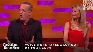 Voice Acting 101 With Tom Hanks | The Graham Norton Show | BBC America