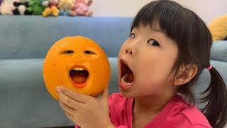 What if Orange is alive? orange pretend play with kids toys 오렌지가 살아 있어요! 주방놀이 장난감 놀이 - 로미유 Romiyu